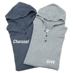 2 Pack Hooded Thermals - Grey/Charcoal  Model# MKL-0782B