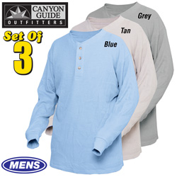 Canyon Guide Thermal Shirts - 3 Pack  Model# 19887