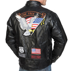 Lambskin Leather Motorcycle Jacket  Model# PY-040