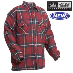 Quilt-Lined Flannel - Burgundy  Model# 43743-011HL