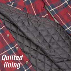 Quilt-Lined Flannel - Brown  Model# 43743-007HL