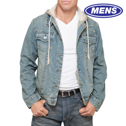 Denim Jacket with Hoodie  Model# MJ-0549