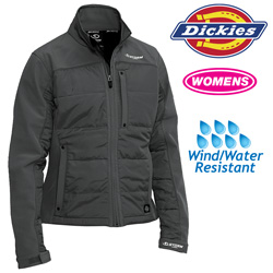 Dickies Womens Puffer Jacket - Black  Model# FJ362BK