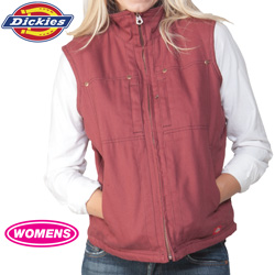 Dickies Womens Vest - Burgundy  Model# FE400OX