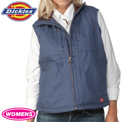 Dickies Womens Vest - Blue  Model# FE400LU