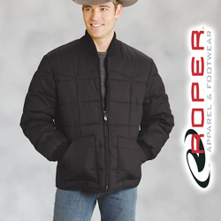 Roper Canvas Down Jacket - Black  Model# 03-097-0409-0646BL