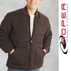 Roper Canvas Down Jacket - Brown  Model# 03-097-0409-0647BL