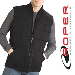 Roper Canvas Down Vest - Black  Model# 03-097-0410-0646BL