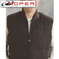 Roper Canvas Down Vest - Brown  Model# 03-097-0410-0647 BR