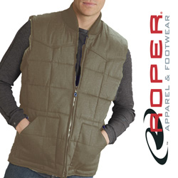 Roper Canvas Down Vest - Khaki  Model# 03-097-0410-0645 BR