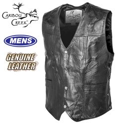 Classic Leather Vest  Model# PY-033