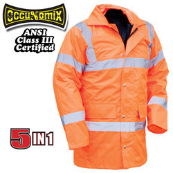 Hi-Viz 5-In-1 Jacket - Orange  Model# OK-4500
