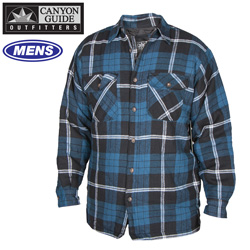 Quilted Flannel Shirt - Blue  Model# 43743-015HL