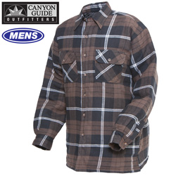 Quilted Flannel Shirt - Brown  Model# 43743-007HL