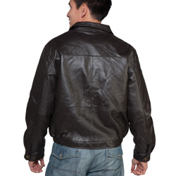 Classic Leather Bomber Jacket  Model# 22039