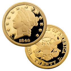 1849 $20 Gold Liberty Proof
