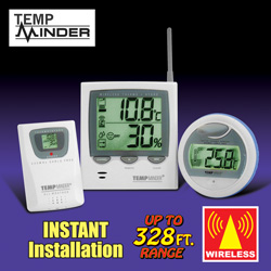 Temp Minder 3 Piece Wireless Weather Station  Model# MRC890