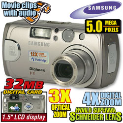 Samsung 5.0 Megapixel Digital Camera  Model# V5