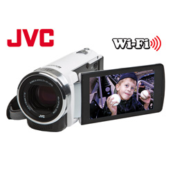 JVC Full HD Digital Video Camera&nbsp;&nbsp;Model#&nbsp;GZ-EX210-BUS-WHITE