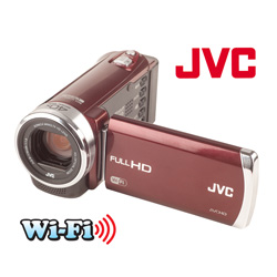 JVC HD Digital Video Camera&nbsp;&nbsp;Model#&nbsp;GZ-EX210RUS-RED