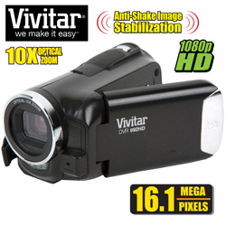 Vivitar 16.1MP HD Camera/Camcorder  Model# DVR992-BLK/KIT-AMX