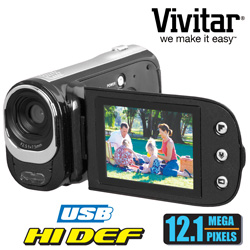 Vivitar 12.1MP Camera/Camcorder  Model# DVR748HD BLK/KIT-AMX