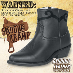 Saddle Tramp Western Half Boots&nbsp;&nbsp;Model#&nbsp;A8001
