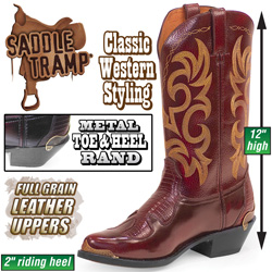 Saddle Tramp Cherry Western Boots&nbsp;&nbsp;Model#&nbsp;MS-0035
