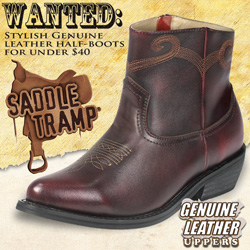 Saddle Tramp Cherry Western Half Boots&nbsp;&nbsp;Model#&nbsp;A8002