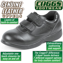 Coggs Black Mens Care Shoes  Model# CT1877
