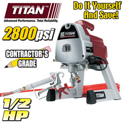 Titan 1/ 2HP Paint Sprayer  Model# XT250