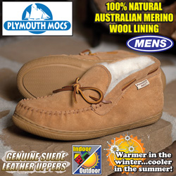 Plymouth Mocs Mens Chukka Slippers  Model# HL-S200M