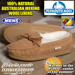 Plymouth Mocs Mens Moccasins  Model# HL-S100M