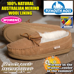 Plymouth Mocs Womens Moccasins  Model# HL-S100L