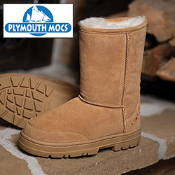 Plymouth Mocs Mens Boot Slippers  Model# HL-S1000M