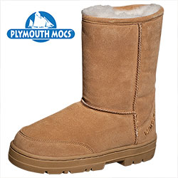 Plymouth Mocs Womens Boot Slippers  Model# HL-S1000L