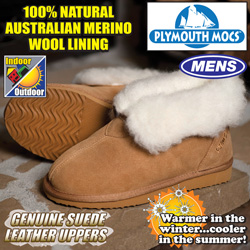Plymouth Mocs Mens Ankle Boot Slippers  Model# HL-S800M
