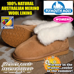 Plymouth Mocs Womens Ankle Boot Slippers  Model# HL-S800L