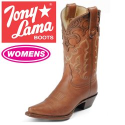 Womens Tan Thorghbred Boots  Model# VF6001