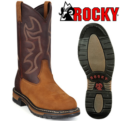 Rocky Branson Round Toe Roper Boots&nbsp;&nbsp;Model#&nbsp;2732