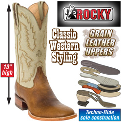 Rocky Fresno Western Boots&nbsp;&nbsp;Model#&nbsp;2884