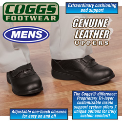 Coggs Black MensCare Shoes  Model# OUHAI15908BLK