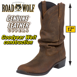 Road Wolf Brown Desperado Boots  Model# 1232W