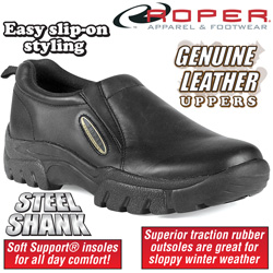 Roper Black Slip-On Shoes  Model# 9-20-601-9434