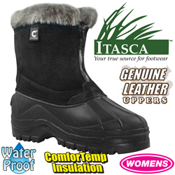Womens Black Comfort Temp Boots&nbsp;&nbsp;Model#&nbsp;A91649-BLK