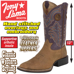 Tony Lama Rust Bridle Boots  Model# RR4000