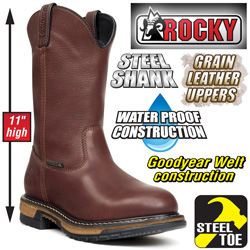 Rocky Steel Toe Wellington Boots  Model# 6745
