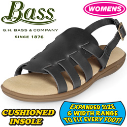 Bass Womens Black Sandals&nbsp;&nbsp;Model#&nbsp;KATHY-BLACK