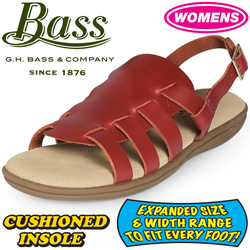 Bass Womens Cinnamon Sandals&nbsp;&nbsp;Model#&nbsp;KATHY-CINNAMON