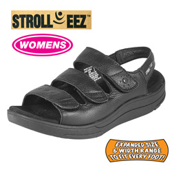 Stroll-eez Reno Sandals - Black&nbsp;&nbsp;Model#&nbsp;STROLL-EEZ RENO-BLACK